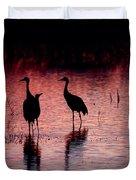 Sandhill Cranes Duvet Cover by Steven Ralser