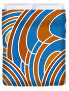 Sanguine And Blue Abstract Duvet Cover by Frank Tschakert