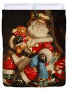Santa Claus - Antique Ornament -05 Duvet Cover by Jill Reger