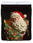Santa Claus - Antique Ornament - 10 Duvet Cover by Jill Reger