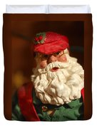 Santa Claus - Antique Ornament - 16 Duvet Cover by Jill Reger
