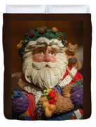 Santa Claus - Antique Ornament - 20 Duvet Cover by Jill Reger