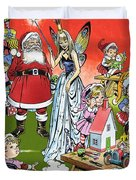 Santa Claus Toy Factory Duvet Cover by Jesus Blasco