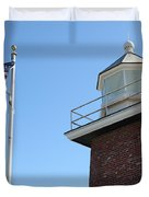 Santa Cruz Lighthouse Surfing Museum California 5d23951 Duvet Cover by Wingsdomain Art and Photography