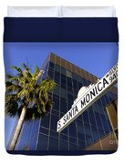 Santa Monica Blvd Sign In Beverly Hills California Duvet Cover by Paul Velgos