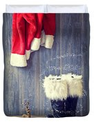Santa's Boots Duvet Cover by Amanda And Christopher Elwell