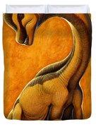 Sauroposeidon, A Genus Of Sauropod Duvet Cover by H. Kyoht Luterman