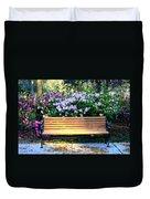 Savannah Bench Duvet Cover by Carol Groenen