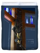Sax At The Full Moon Cafe Duvet Cover by Greg Reed
