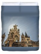 Scaligeri Family Tombs Duvet Cover by Maria Coulson