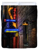 Scat Lounge Living Color Duvet Cover by Joan Carroll