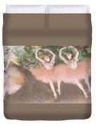 Scene De Ballet Duvet Cover by Edgar Degas
