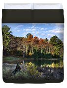 Scenic Autumn At Oakley's Duvet Cover by Christina Rollo