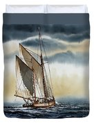 Schooner Duvet Cover by James Williamson