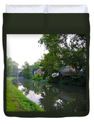 Schuylkill Canal Mont Clare Duvet Cover by Bill Cannon