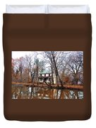Schuylkill Canal Port Providence Duvet Cover by Bill Cannon