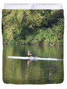 Schuylkill Rower Duvet Cover by Bill Cannon