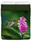 Scintillant Hummingbird Selasphorus Duvet Cover by Michael and Patricia Fogden