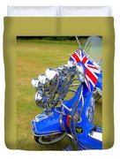 Scooter Dressed For Going Out Duvet Cover by Steve Kearns