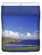 Scotland Shetland Islands Eshaness Cliffs Duvet Cover by Anonymous