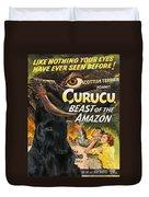 Scottish Terrier Art Canvas Print - Curucu Movie Poster Duvet Cover by Sandra Sij