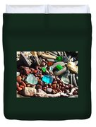 Sea Glass Art Prints Beach Seaglass Duvet Cover by Baslee Troutman