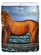 Sea Lion Bolder Image Duvet Cover by Leah Saulnier The Painting Maniac
