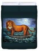 Sea Lion Bolder Image Duvet Cover by Leah Saulnier The Painting Maniac