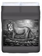 Sea Lion In Bw Duvet Cover by Leah Saulnier The Painting Maniac