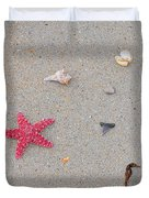 Sea Swag - Red Duvet Cover by Al Powell Photography USA