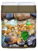 Seaglass Art Prints Coastal Beach Sea Glass Duvet Cover by Baslee Troutman