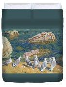 Seagulls Duvet Cover by Arkadij Aleksandrovic Rylov