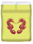 Seahorses In Love Duvet Cover by Jane Schnetlage