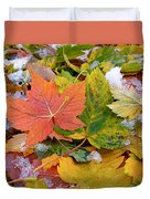Seasonal Mix Duvet Cover by Rona Black