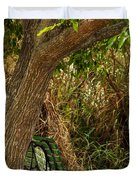 Secluded Park Benches Duvet Cover by Jess Kraft