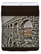 Segovia Aqueduct - Spain Duvet Cover by Juergen Weiss