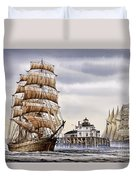 Semi-ah-moo Lighthouse Duvet Cover by James Williamson