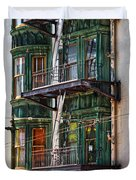 Sentinel Building Or Columbus Tower Duvet Cover by RicardMN Photography