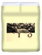 Sepia Cat Duvet Cover by Rob Hans