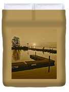 Sepia Sunset Duvet Cover by Frozen in Time Fine Art Photography