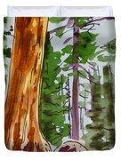 Sequoia Park - California Sketchbook Project  Duvet Cover by Irina Sztukowski