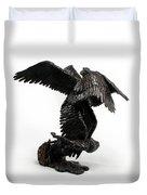 Seraph Angel A Religious Bronze Sculpture By Adam Long Duvet Cover by Adam Long