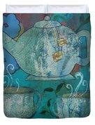 Serene Tea Duvet Cover by Robin Maria  Pedrero