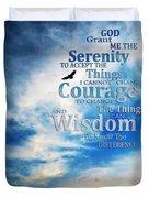 Serenity Prayer 3 - By Sharon Cummings Duvet Cover by Sharon Cummings