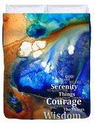 Serenity Prayer 4 - By Sharon Cummings Duvet Cover by Sharon Cummings