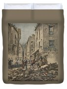 Serious Troubles In Italy Riots Duvet Cover by French School