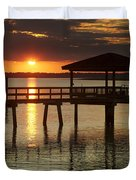 Setting Sun Duvet Cover by Phill  Doherty