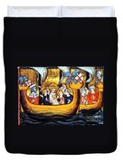Seventh Crusade 13th Century Duvet Cover by Photo Researchers