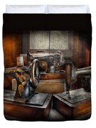 Sewing - A Chorus Of Three Duvet Cover by Mike Savad