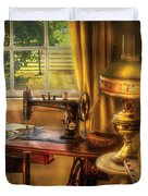 Sewing Machine - Domestic Sewing Machine Duvet Cover by Mike Savad